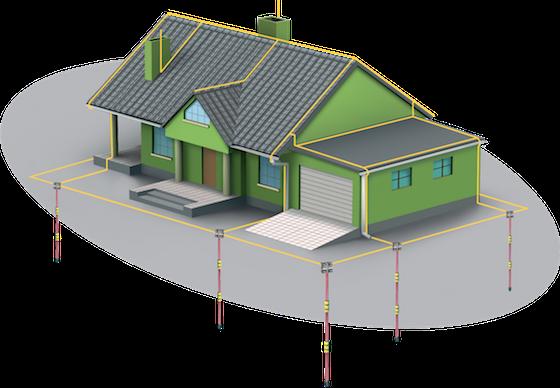 Модульно-штыревое заземление контура молниезащиты частного дома