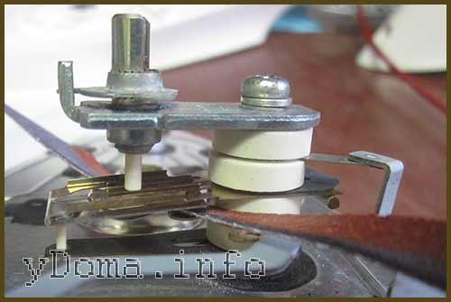 Зачистка контактов терморегулятора