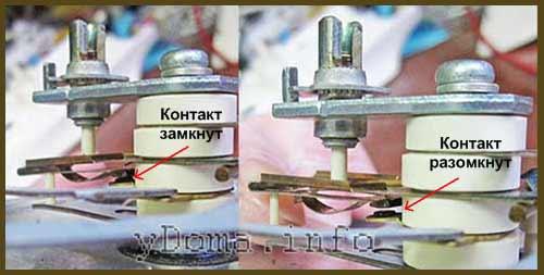 Терморегулирующее устройство в утюге