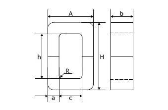 Стержневой ленточный магнитопровод