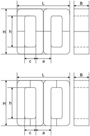 Схема броневого магнитопровода