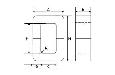 Схема стержневого магнитопровода
