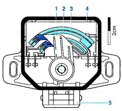 Датчик дроссельной заслонки (конструкция)