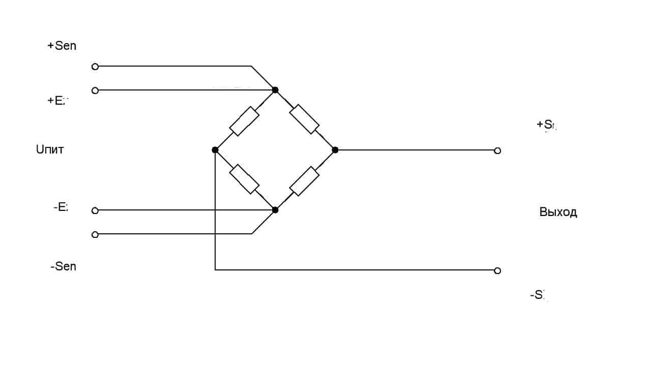 Шестипроводная схема с цепью обратной связи
