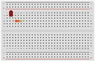 Схема подключения светодиода к монтажной плате