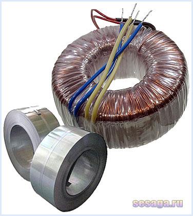 Тороидальный трансформатор из ленточного магнитопровода