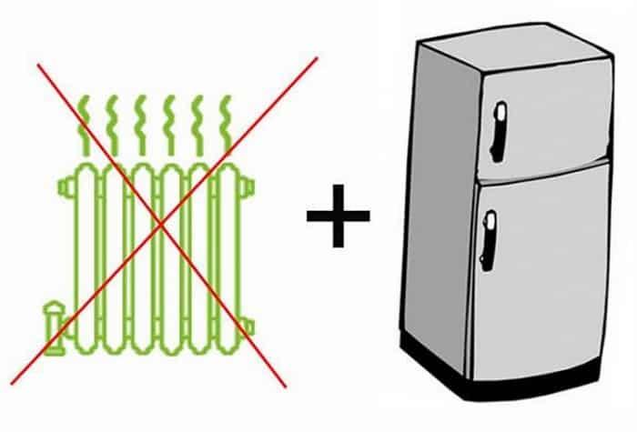 Как нельзя размещать холодильник