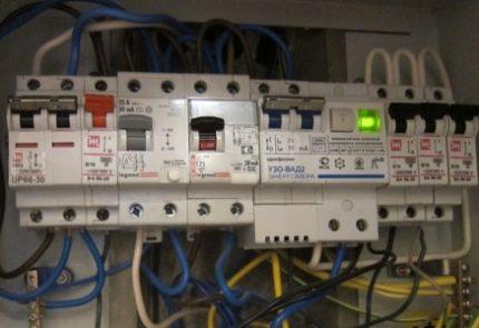 УЗО в распределительном электрощите