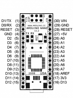 Arduino Nano V2.2 - распиновка