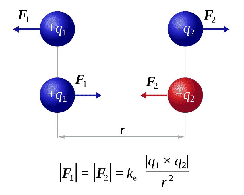 Взаимодействие точечных зарядов