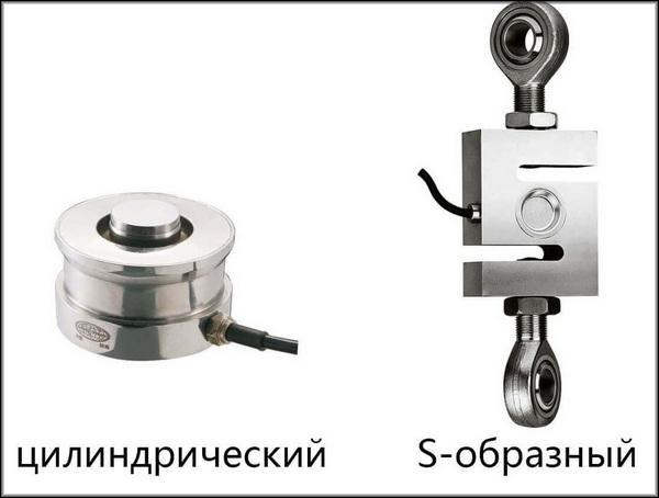 цилиндрический и S-образный датчики