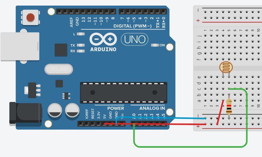 Подключение фоторезистора к Ардуино