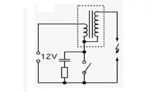 Схема катушки зажигания
