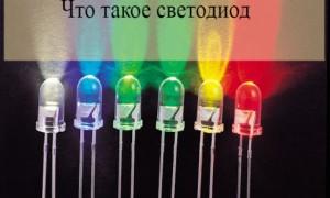 Что такое светодиод