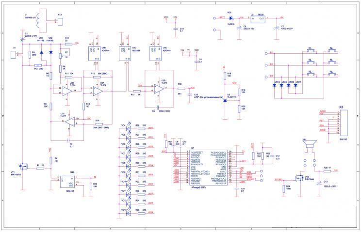 Схема с ADG444 (КР590КН5)
