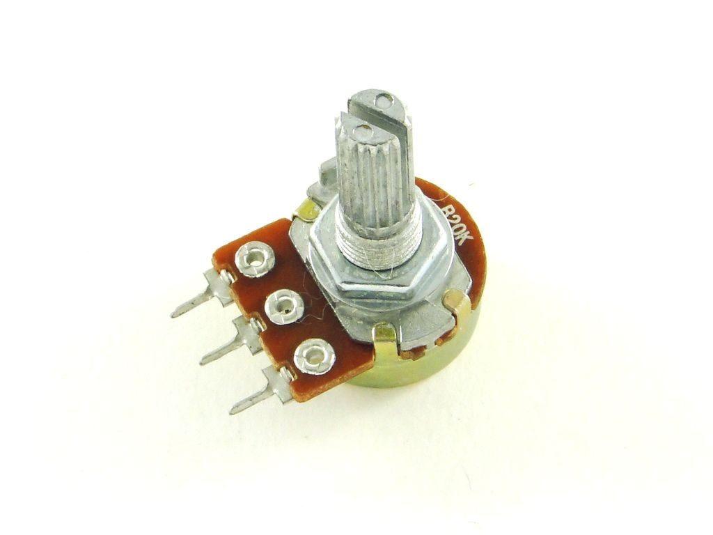 Резистор с переменным сопротивлением.