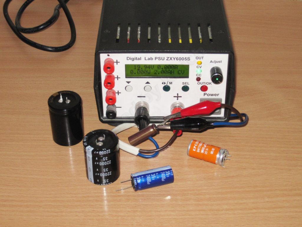 Тест электролитических конденсаторов