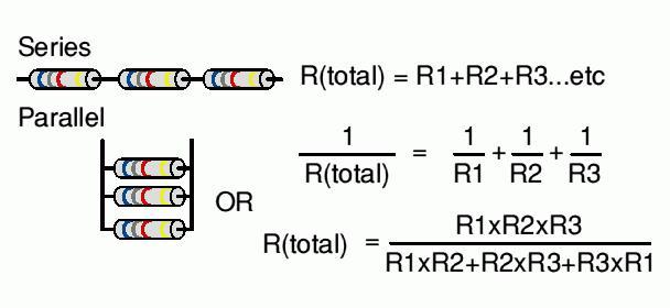 Параллельное подключение резисторов