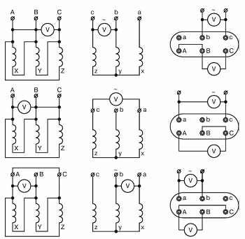 Определение коэффициентов трансформации трансформатора