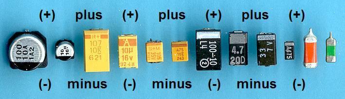 Полярность конденсаторов