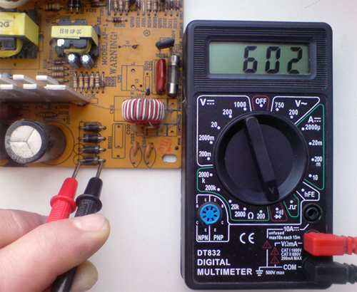 Проверка резистора на схеме