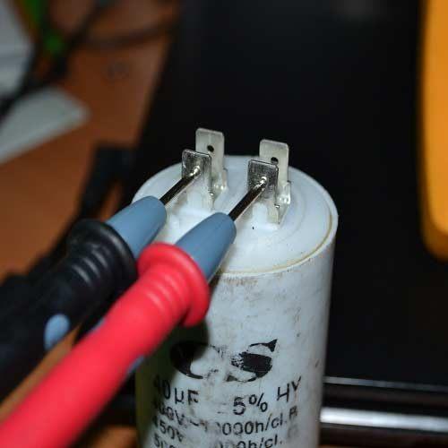Проверка пускового и рабочего конденсаторов