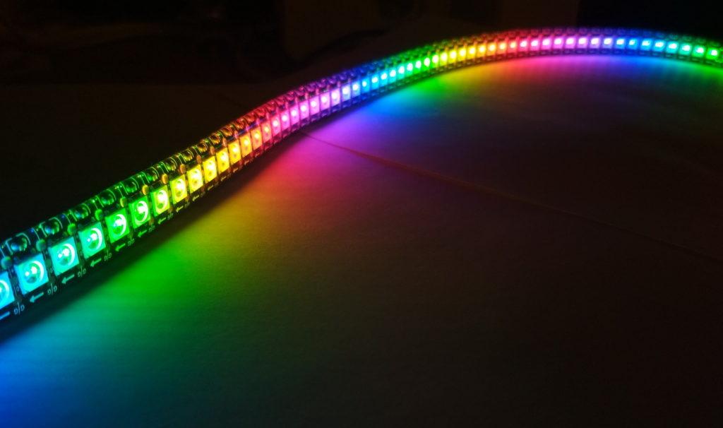 Различные оттенки светодиодной ленты.
