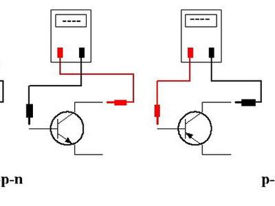 Подключения транзистора к тестеру