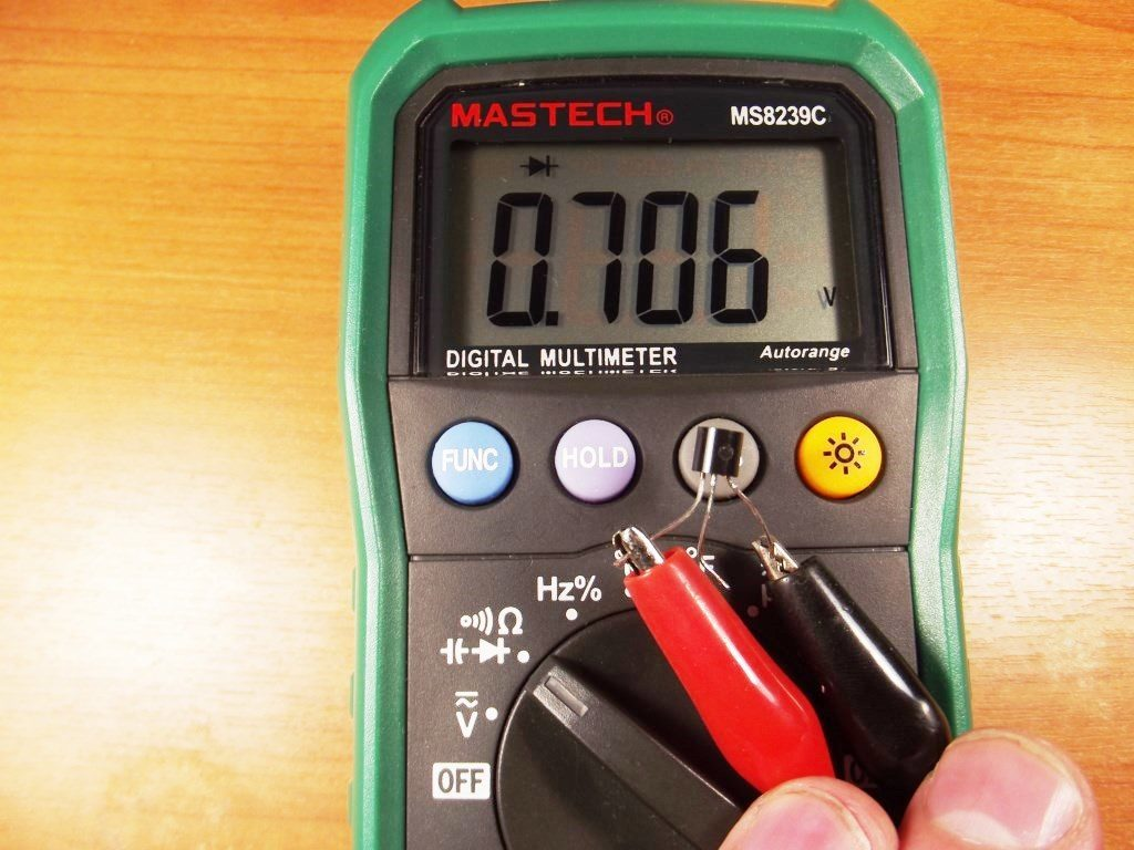 Проверка полевого транзистора.