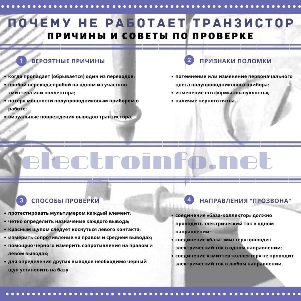 советы по проверке транзистора