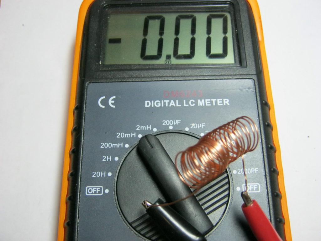Измерение катушки индуктивности мультиметром