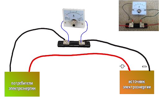 Подключение амперметра