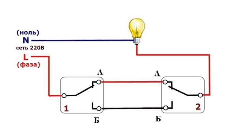 Принцип работы одноклавишной модели.