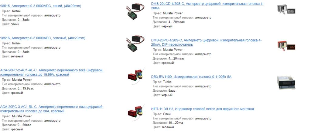 Популярные модели цифровых амперметров
