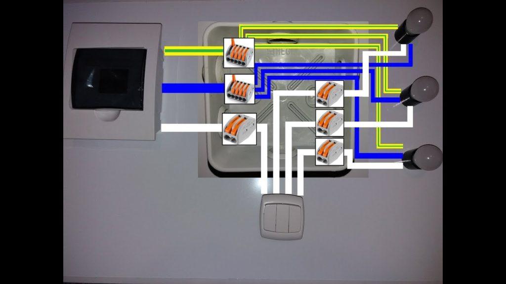 Схема тройного выключателя.