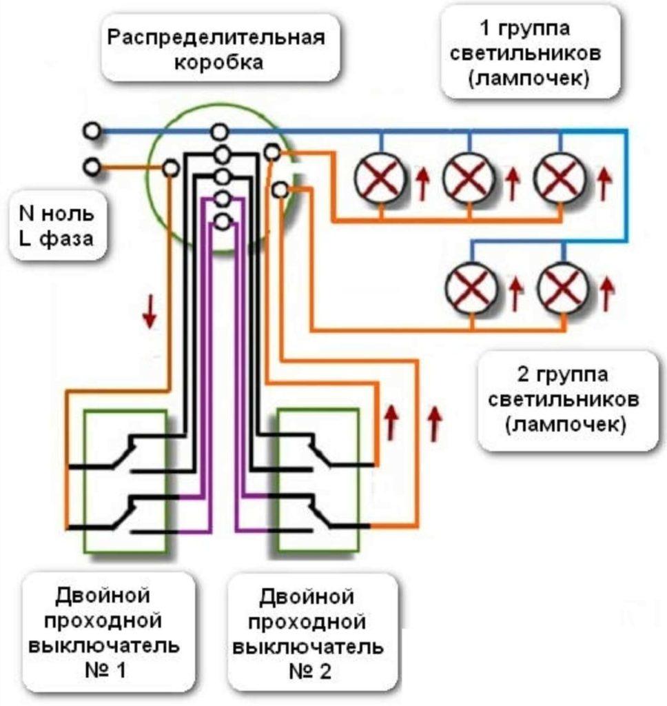Основное предназначение проходного выключателя