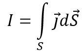 Сила тока через произвольную поверхность определяется через поток вектора плотности тока