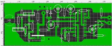 Печатная плата пирата на двух транзисторах