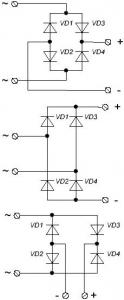 Обозначение диодного моста на схемах