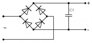 Выпрямитель с сглаживающим конденсатором