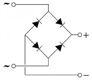 Принципиальная схема диодного моста