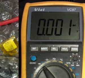 Показание мультиметра при неисправном диоде в обратном включении